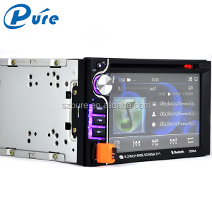6.2 inch display 2 din detachable touch screen car radio/car dvd player
