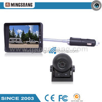 "2.4G digital wireless car rearview camera system with 3.5 "" monitor and magnetic base camera ."
