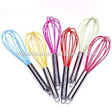 "Food grade 10"" manual silicone egg beater"