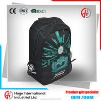 New Fashion Durable F1 Polyester Big School Zipper Backpack With Logo