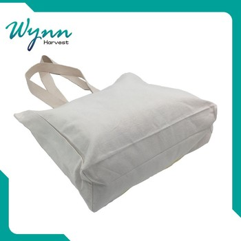 with quality warrantee plain white cotton canvas tote bag
