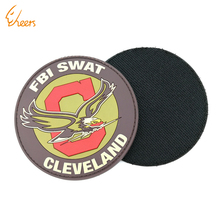 Custom 3D PVC Patch for Clothing, Embossed Logo Epoxy Soft Rubber Patches with Back Adhesive hook-and-loop