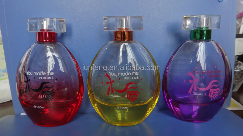 2015 new Fancy design perfume unique shaped glass bottles