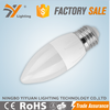 Hot Sale CE-LVD/EMC, RoHS, TUV-GS Approved Aluminium Plastic C30AP 6W 480LM E27 LED Candle lamp e14 Dimmable