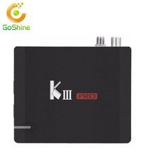 goshine Dual band wifi AC kiii pro dvb s2 t2 4k satellite receiver Amlogic 912 Octa core DDR4 k3 pro dvb