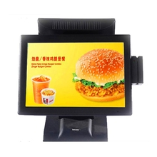 "China Supplier 15"" dual-screen cheap pos pda"