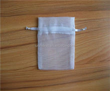 drawstring sheer organza pouch with hair card,tulle sachet gift bag