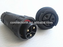 watertight male female wire connector with 3 pins