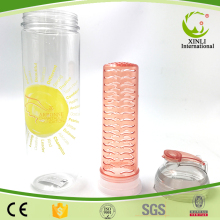 Clear Tritan Plastic Protein Shaker Fruit Water Bottle With Fruit Infuser