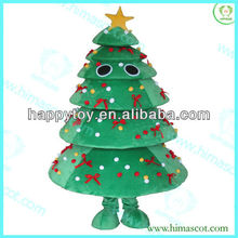 HI CE Hot Sale christmas tree mascot costume with a star