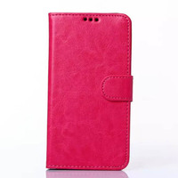 pure color stand wallet leather phone case for samsung galaxy A8