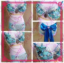 Aidocrystl Handmade Fashion style belly dance costume set for stage performance belly dancing bra