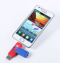 Fashion design metal otg usb flash drive for android cell phones smart phone U disk