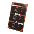 Shenzhen professional leather factory bar menu printing menu board restaurant menu cover single