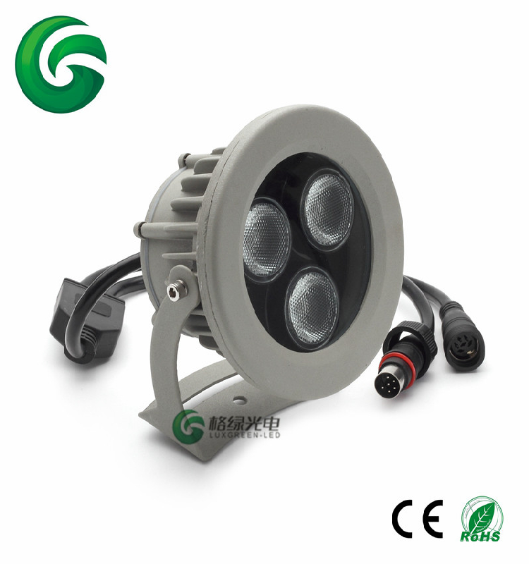 Waterproof IP65 DMX RGB Projector 24X8W RGBW 4in1 LED Wall Washer