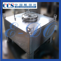 stainless steel milk IBC tote custom tank manufacturing