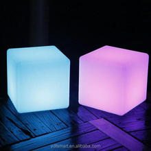 Garden Seat Decor LED Cube Chair Plastic Stool Glowing LED Chair Light