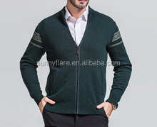 2017 Popular Long Sleeve Cashmere V Neck Knitted Men Sweaters Coat