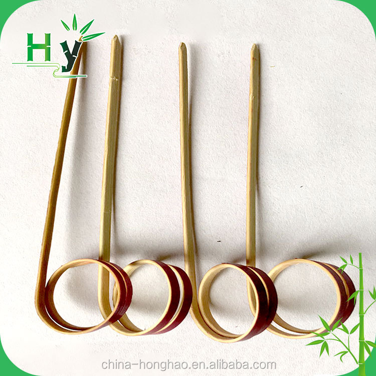 2016 Hot selling bamboo knoted stick for fruit