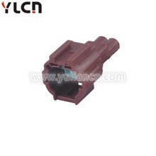 Brown 2 pin male automotive wire connector terminals and seals with stock