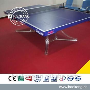 Waterproof Plastic Red Table Tennis Court Floor