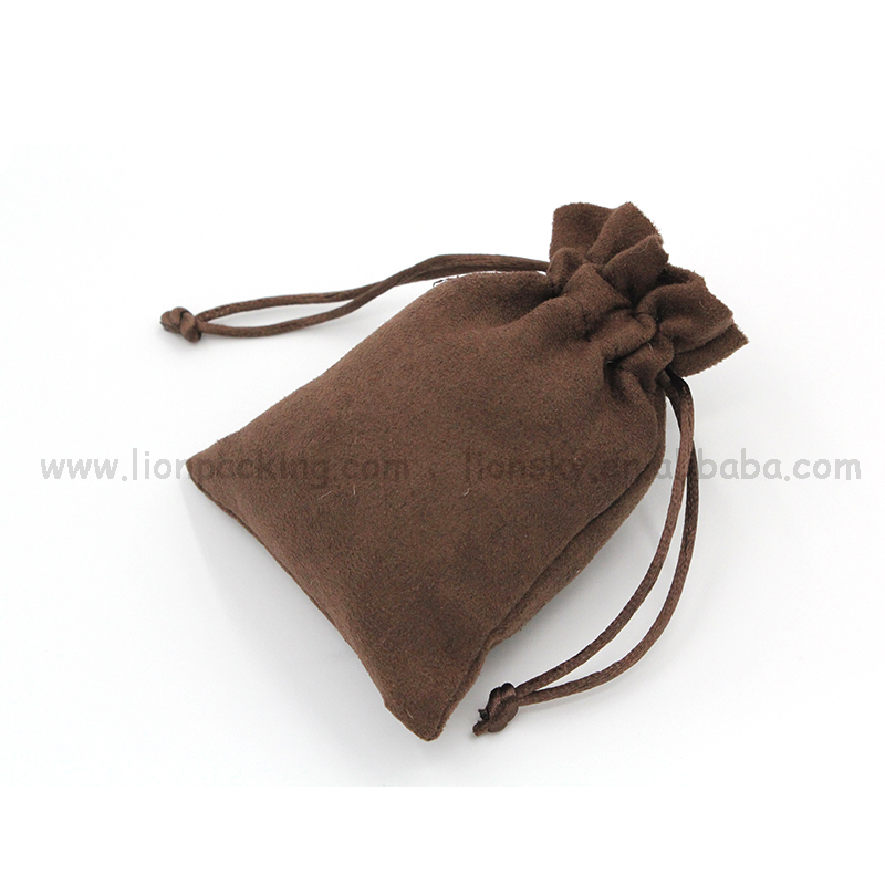 Free samples embroidered packaging partied jewelry suede bag