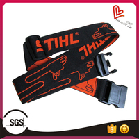 Customs Embroidered Travel Luggage Belt Straps with Adjustable, Released Buckle and Tsa Lock