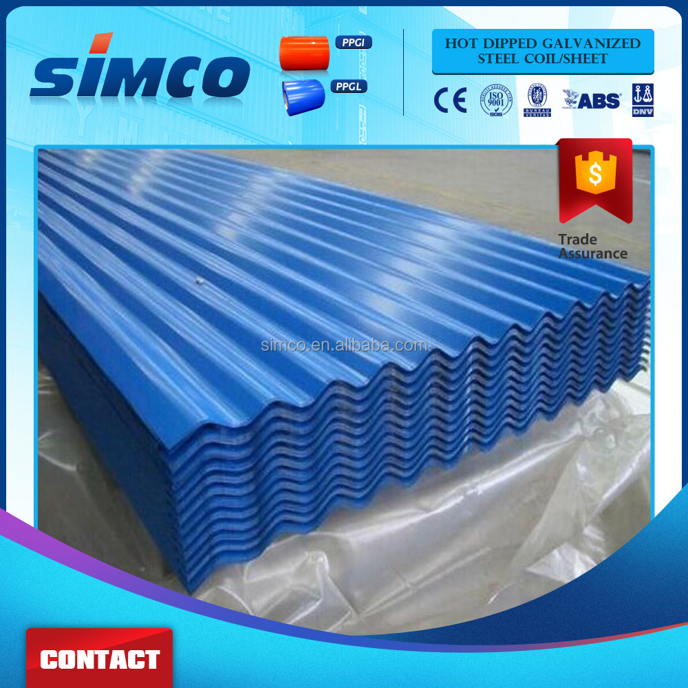 Aluminum zinc roofing wave sheet pre painted Color coated galvanized <strong>steel</strong> coil galvanized sheet