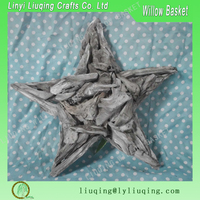 Factory wholesale grey wooden star for garden decoration ornament