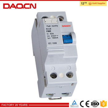 DAQCN Factory Price Residual Current Circuit Breaker RCCB Price