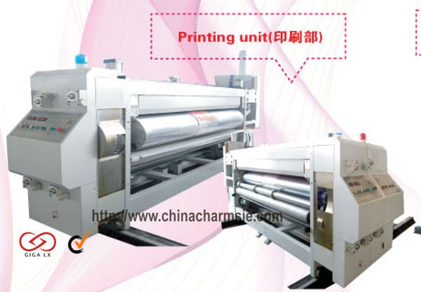 GIGA LX 608 Multiple Color Flexo Label Printing Green Paper Packaging Printer Machine