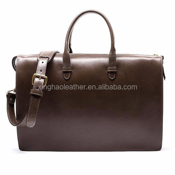 The very Classic Extremely noble vintage leather men briefcase document portfolio