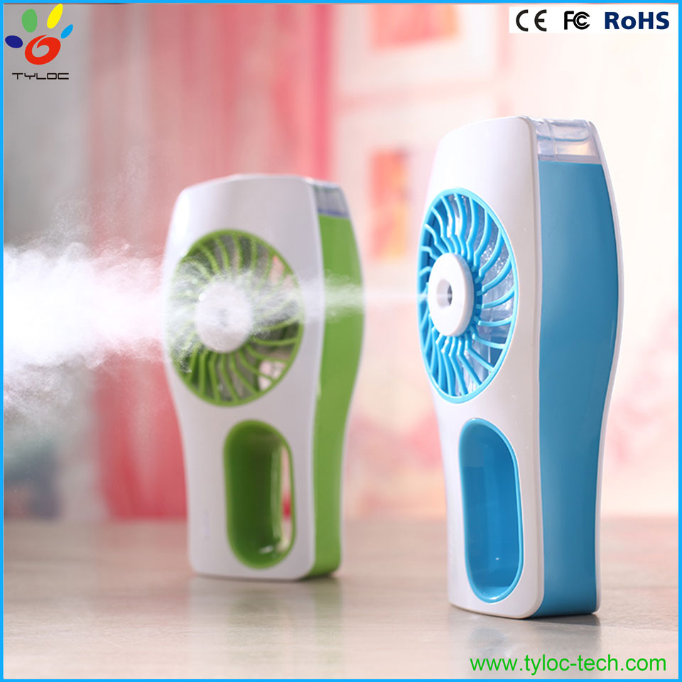 Cooling mist fan rechargeable usb air humidifier water fan