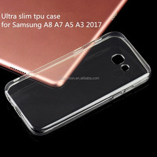 Super slim tpu clear case for galaxy a7 2017, for galaxy a3/a5/a7 2017 protective cases