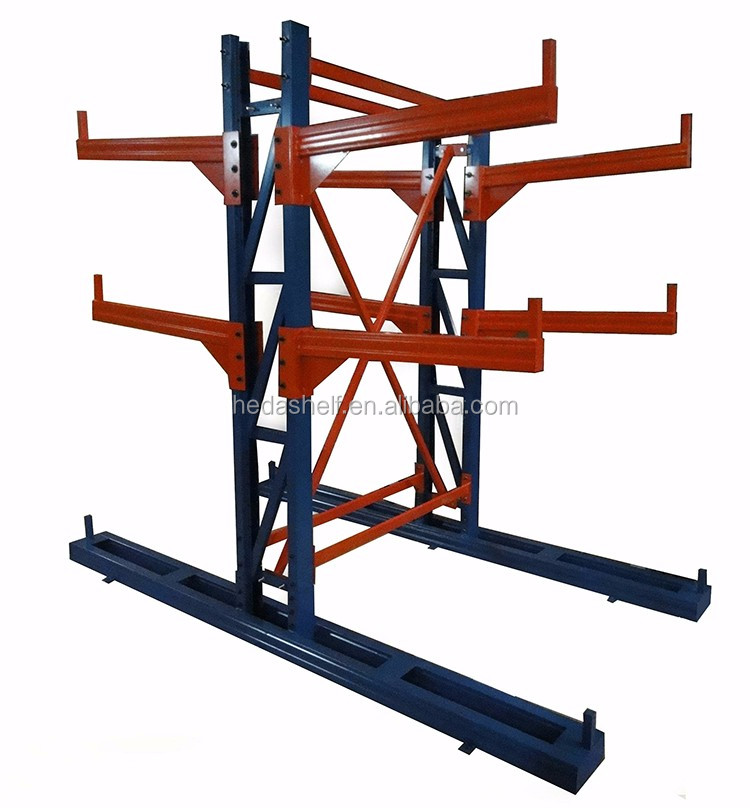 Double side convenient warehouse storage rack cold rolled steel cantilever rack racking