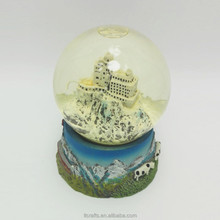 Resin mountain souvenir type Polyresin custom made giant snow globe