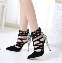 E0056A Europe last fashion ladies high heel sandals women high heel shoes 2017