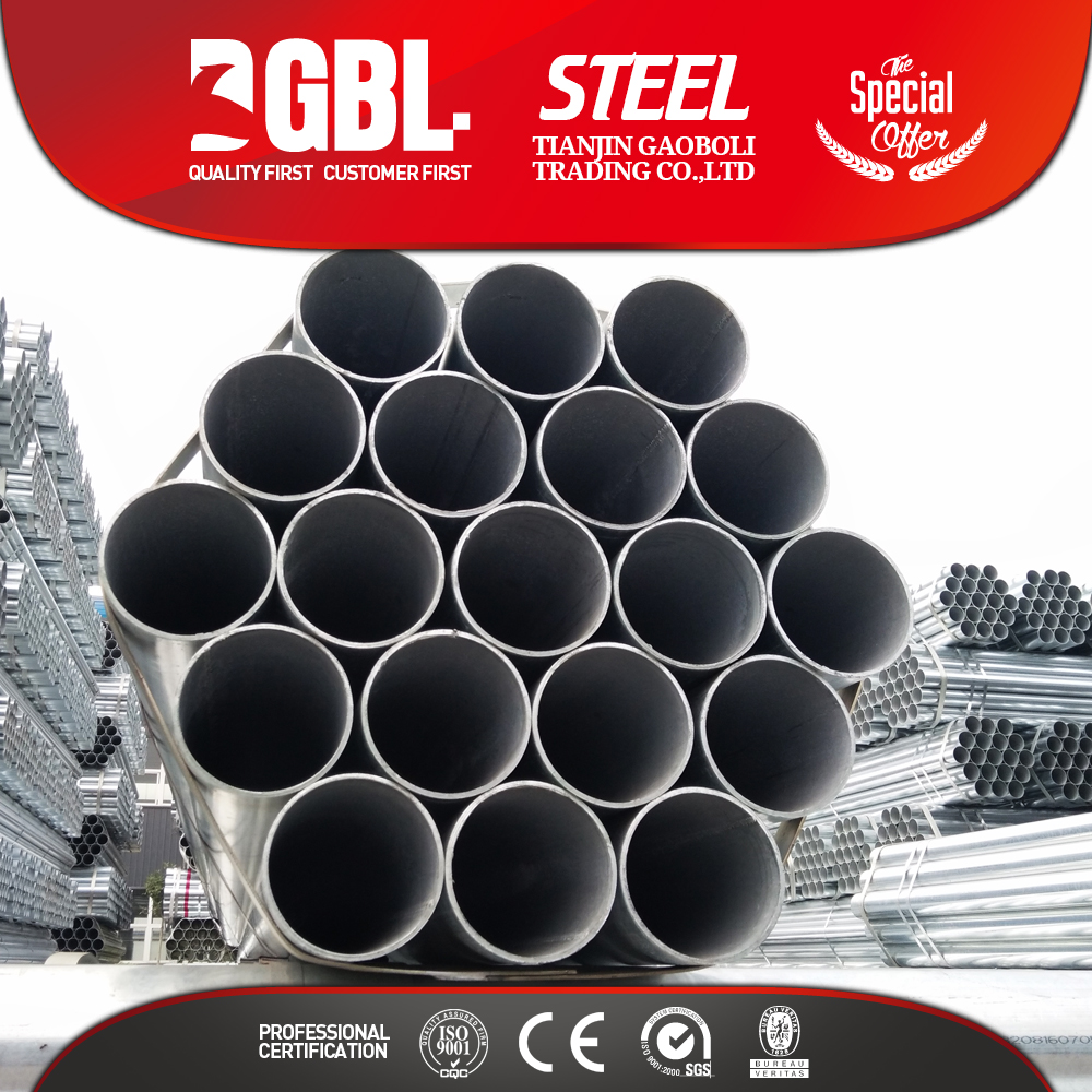 HOT SALE BS1387 CLASS A B C GALVANIZED STEEL PIPES G I PIPE
