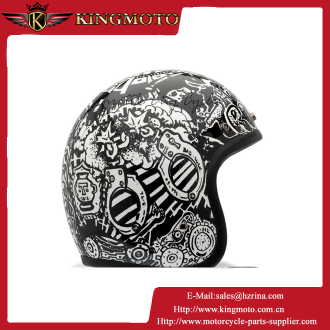 Motorcycle HALF face helmet with DOT, CE approved, ABS shell, 2015 new design, wholesale, german style, vintage