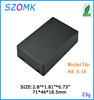 szomk electronic abs plastic housing black small control box 71*46*18.5mm