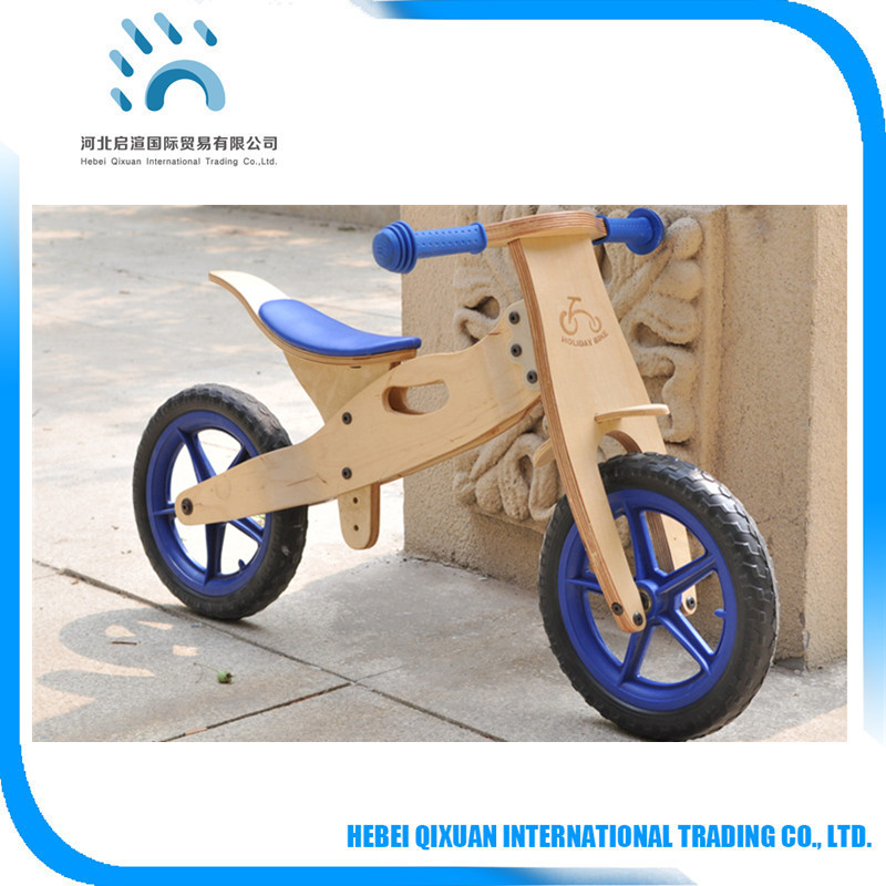 Factory direct selling wood exercise bicycle children wooden balance bike