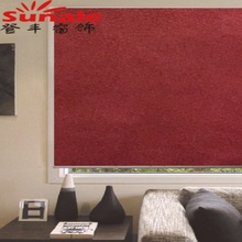 Solid Blackout Suede Fabric Chain Roller Blinds for Home Decor