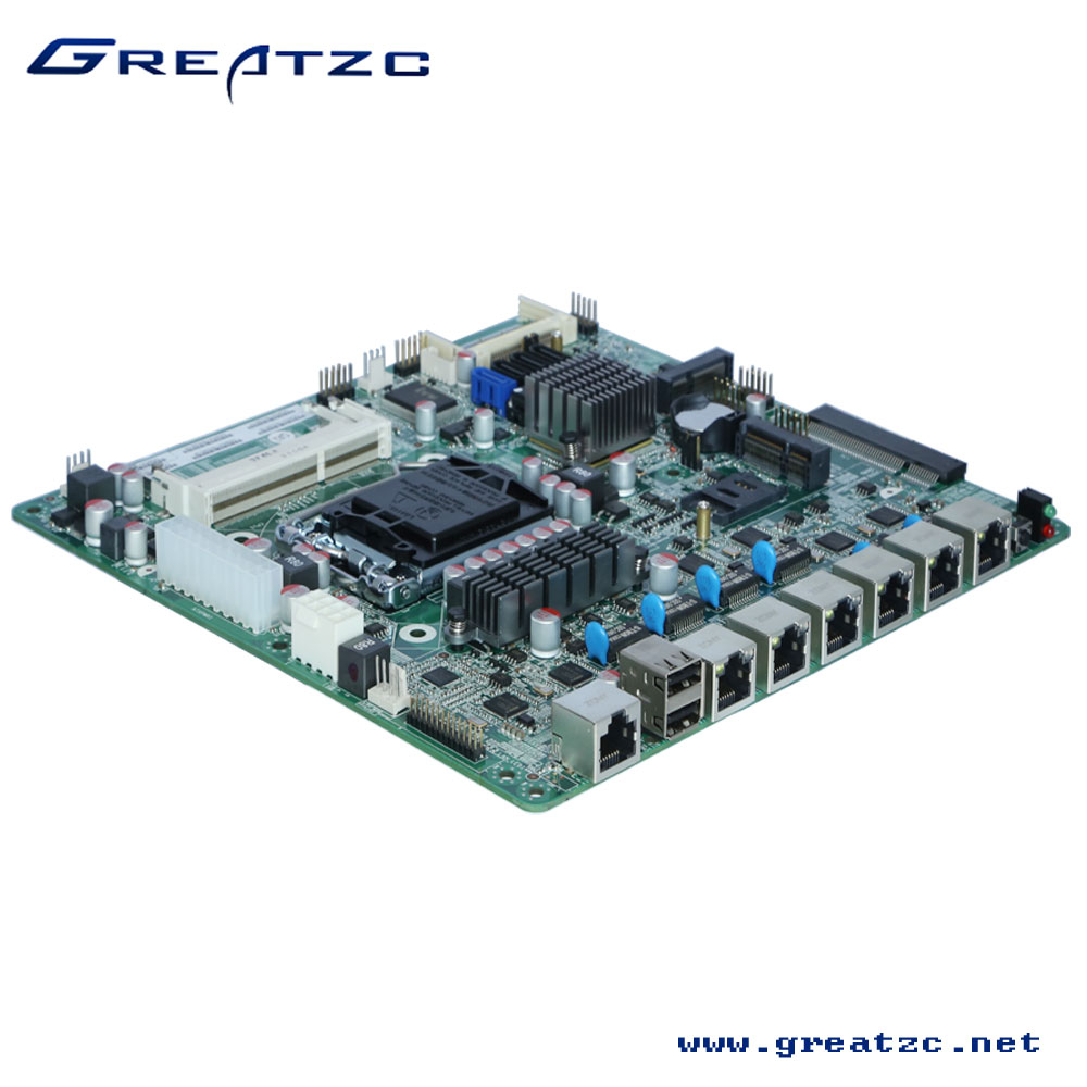ZC-B756L Firewall Motherboard,Firewall Mainboard,B75 Chipset 1155 I3/I5/I7 Motherboard With 6 LAN