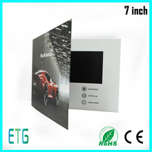 7 inch IPS Screen video in card for Best Sale