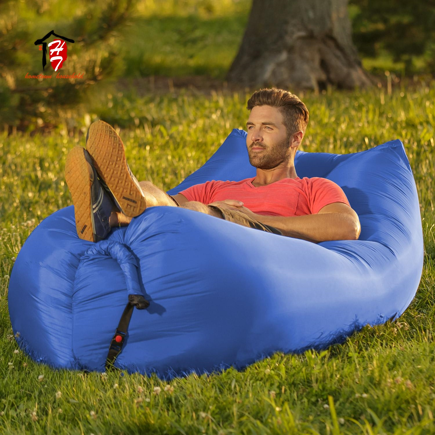 Free sample inflatable single air sofa