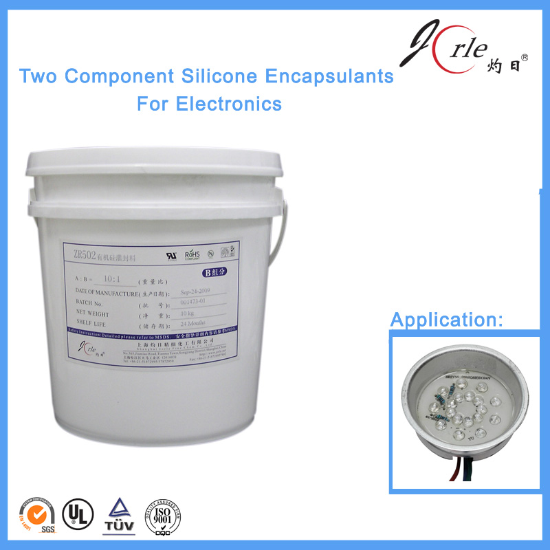 Anti-staining silicone material for LED Potting