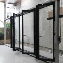 thermal break aluminium bi fold door with 6 large glass panels for high end villa