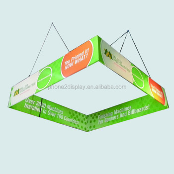 10 FT square lightweight aluminum frame tension fabric hanging banner