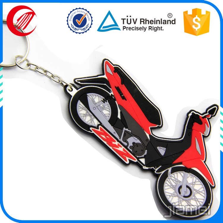 handmade motorcycle rubber pvc keyring