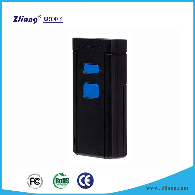 Hot Selling Mini Bluetooth Portable CCD Barcode Scanner with Memory Micro USB Interface ZJ-7500